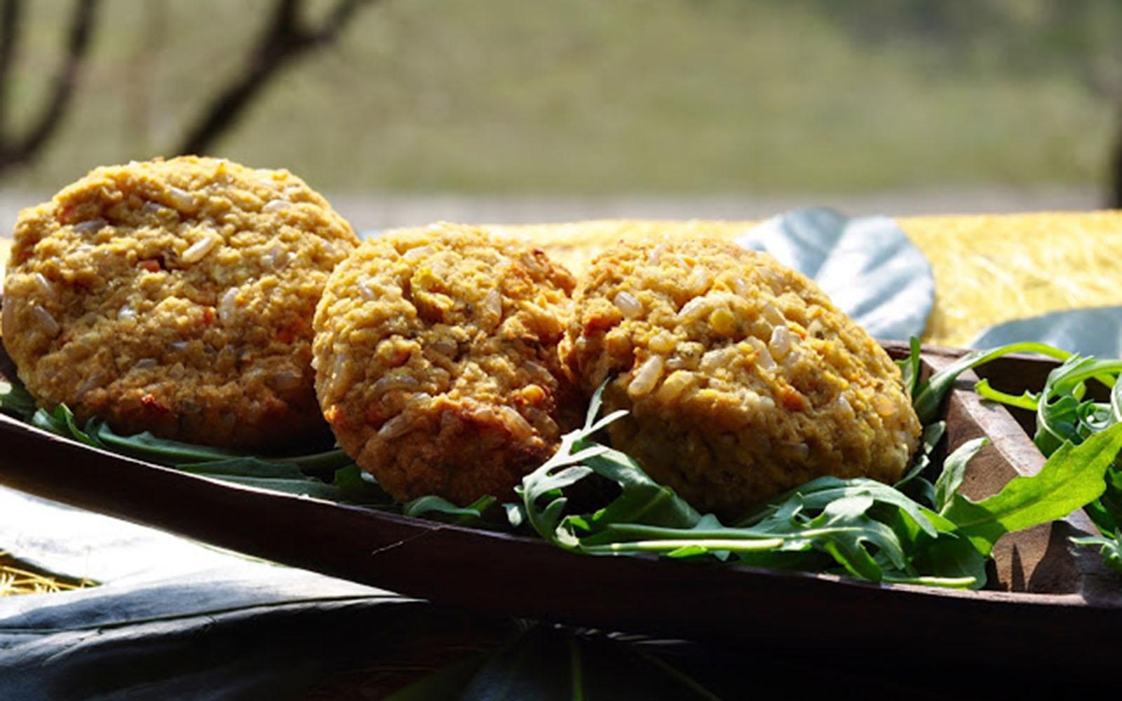 Red Lentil Rice Croquettes