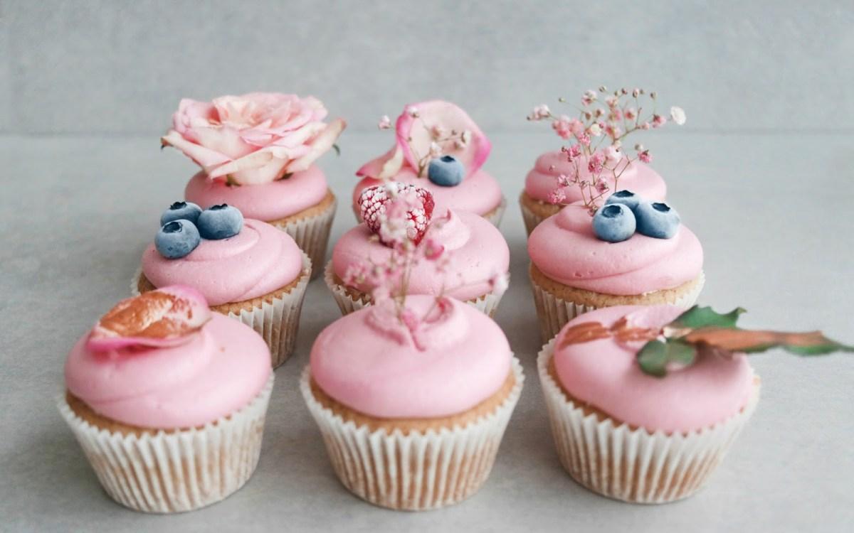 Vegan Mixed Berry Jam Filled Cupcakes