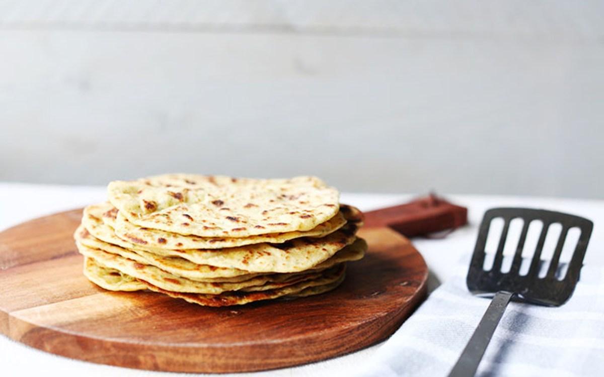 Vegan Garlic and Herb Chickpea Flatbread