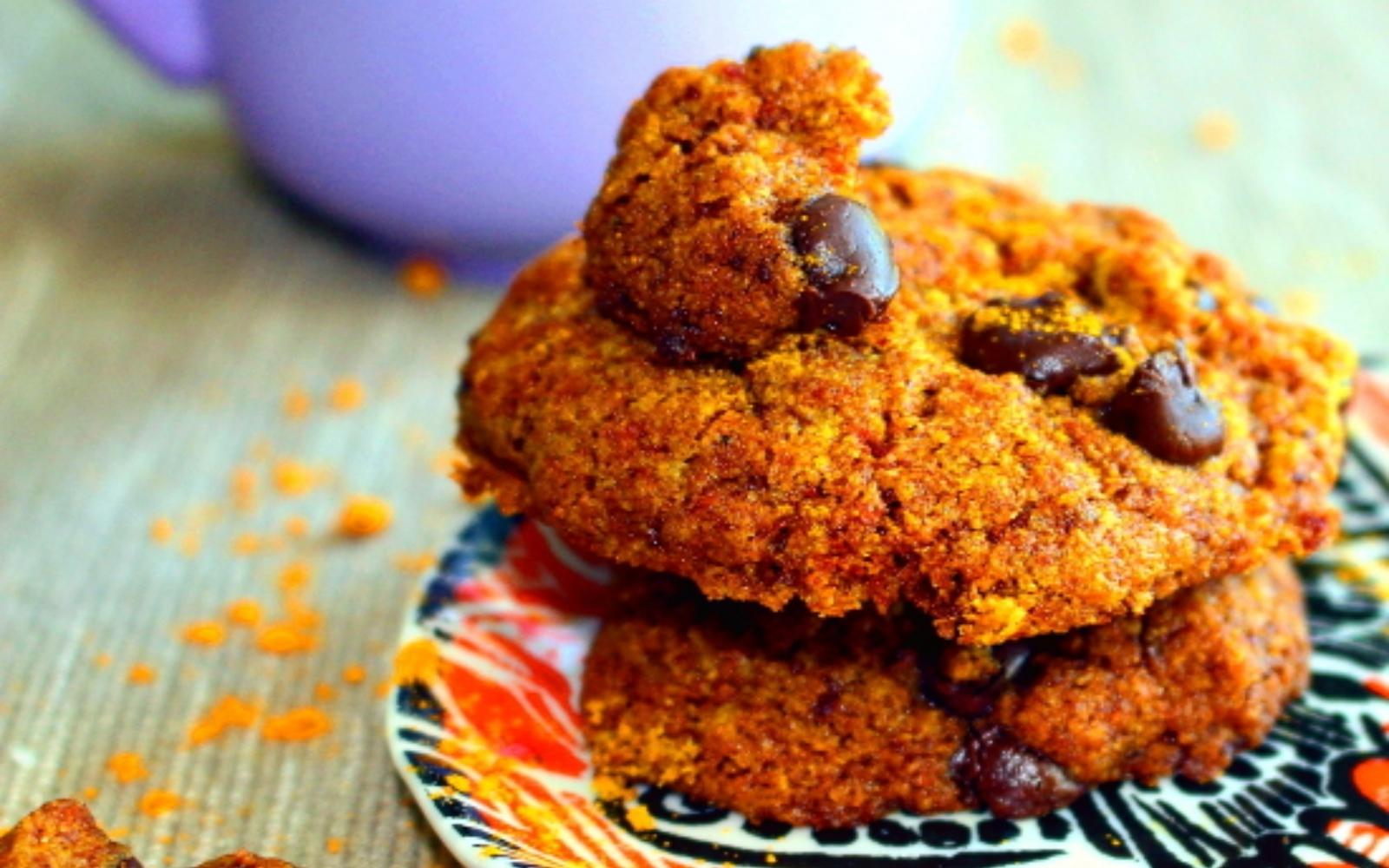 Vegan Tahini Turmeric Cookies