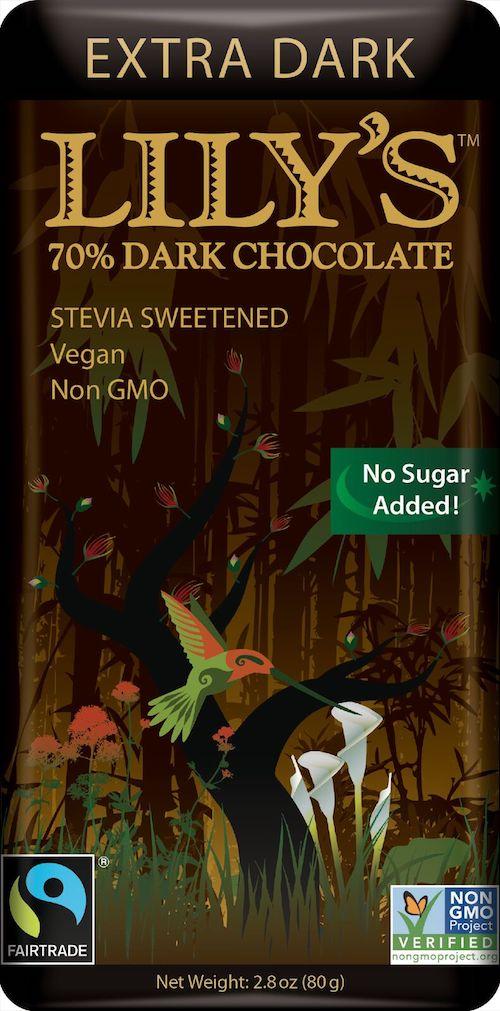 lilys extra dark chocolate