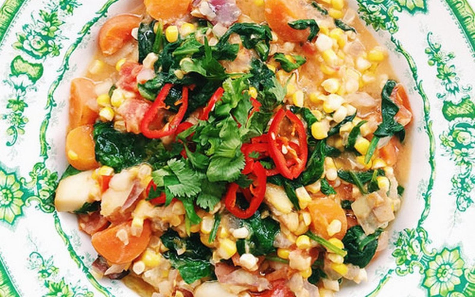 Vegan FResh Summer Corn Chowder