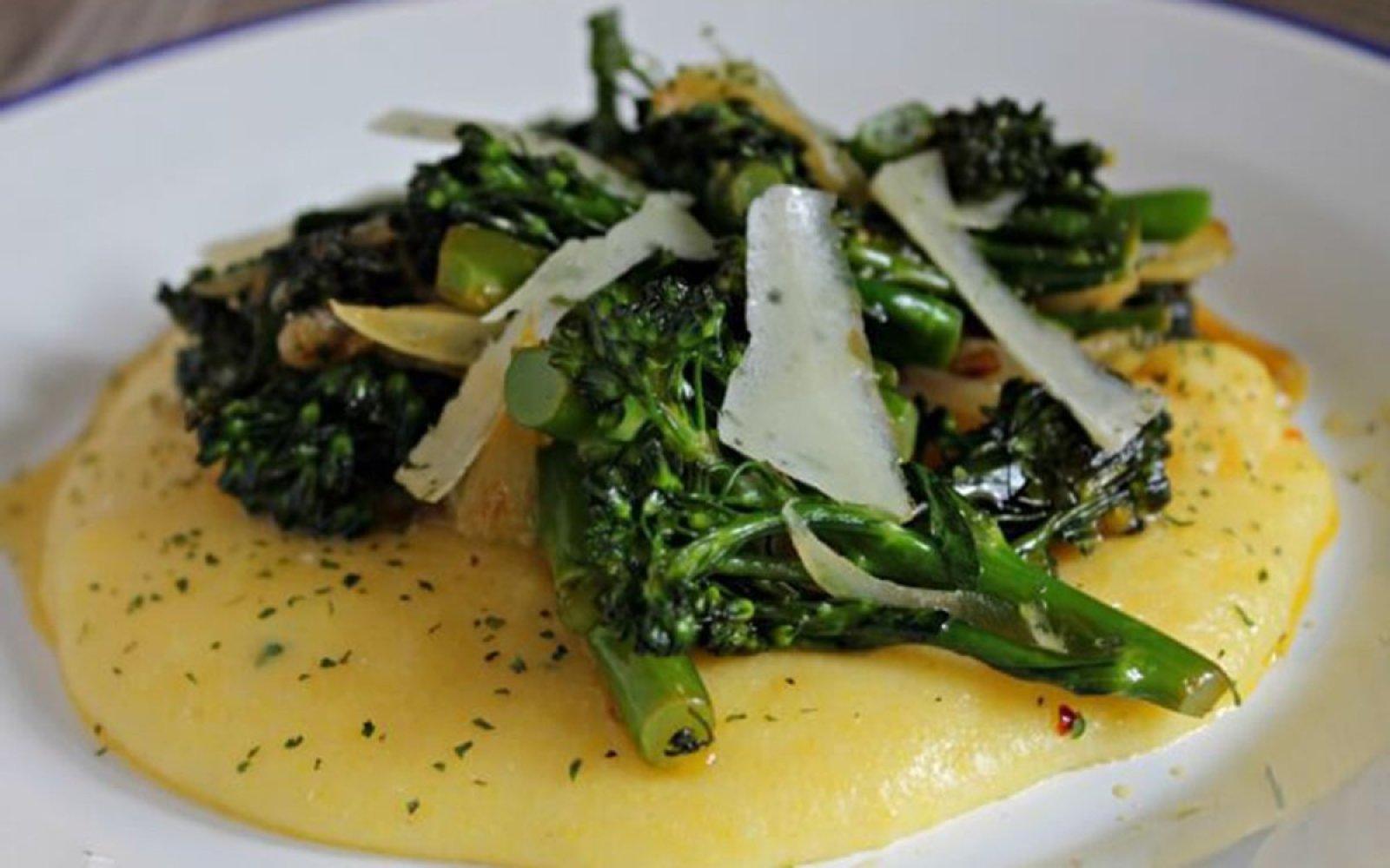 Cheesy Polenta With Hearty Greens [Vegan, Gluten-Free]