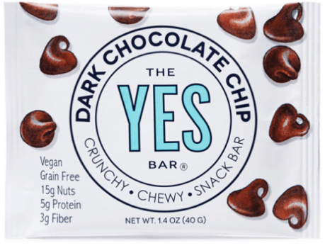 New vegan YES bar dark chocolate chip