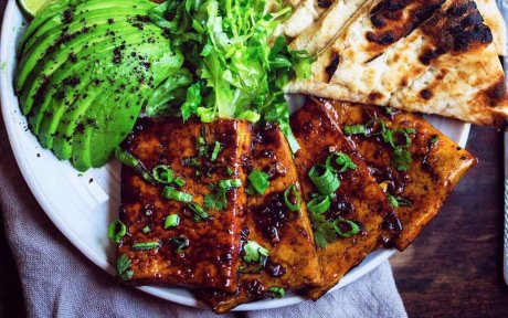 Vegan Teriyaki Glazed Tofu Steaks