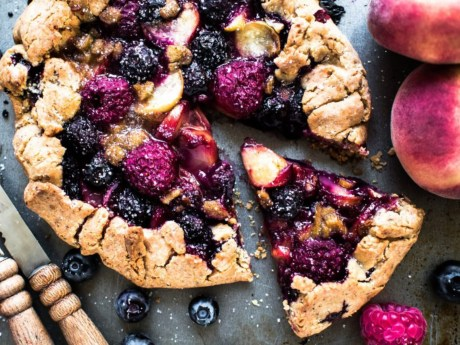 Paraguayo Galette with Rhubarb and Berry