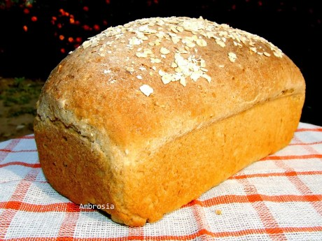 Whole Wheat Oat Bread