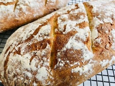 crusty bread, one handed baker, yeast
