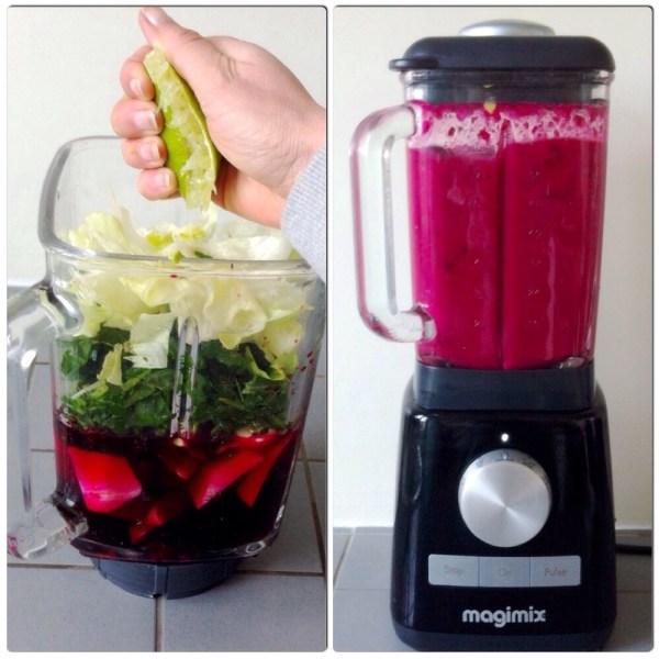 green red smoothie blender