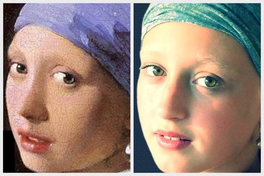 meisje met de parel look alike