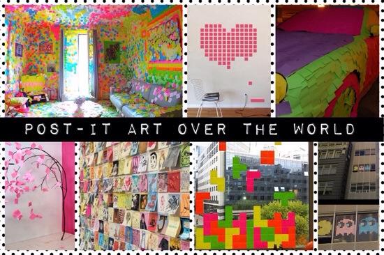 Post-it kunst pacman
