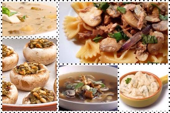 gerechten met champignon
