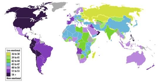 wereldkaart: emoties
