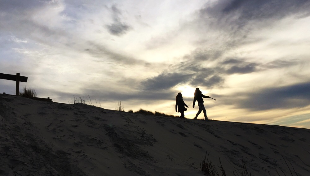 Zonsondergang strand Buren