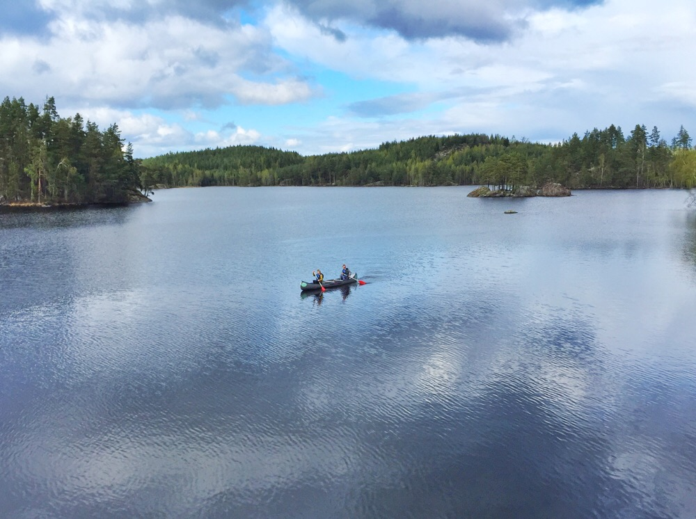 kanoen in Zweden