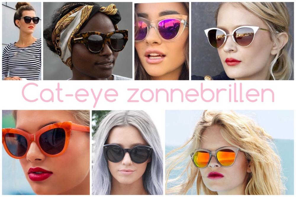 zonnebrillen trends - cat eye glazen