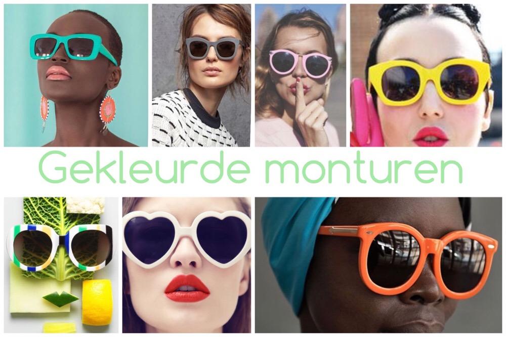 zonnebrillen trends - gekleurd montuur