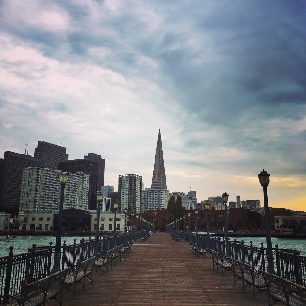 view on San Francisco from pier 7