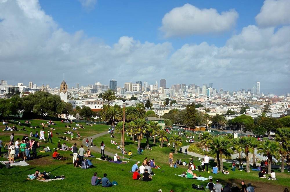 best views on San Francisco - view from Dolores Park