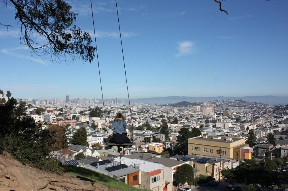 best views on San Francisco - view from Billy Goat Hill park