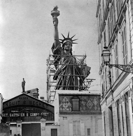 bouw van het Vrijheidsbeeld
