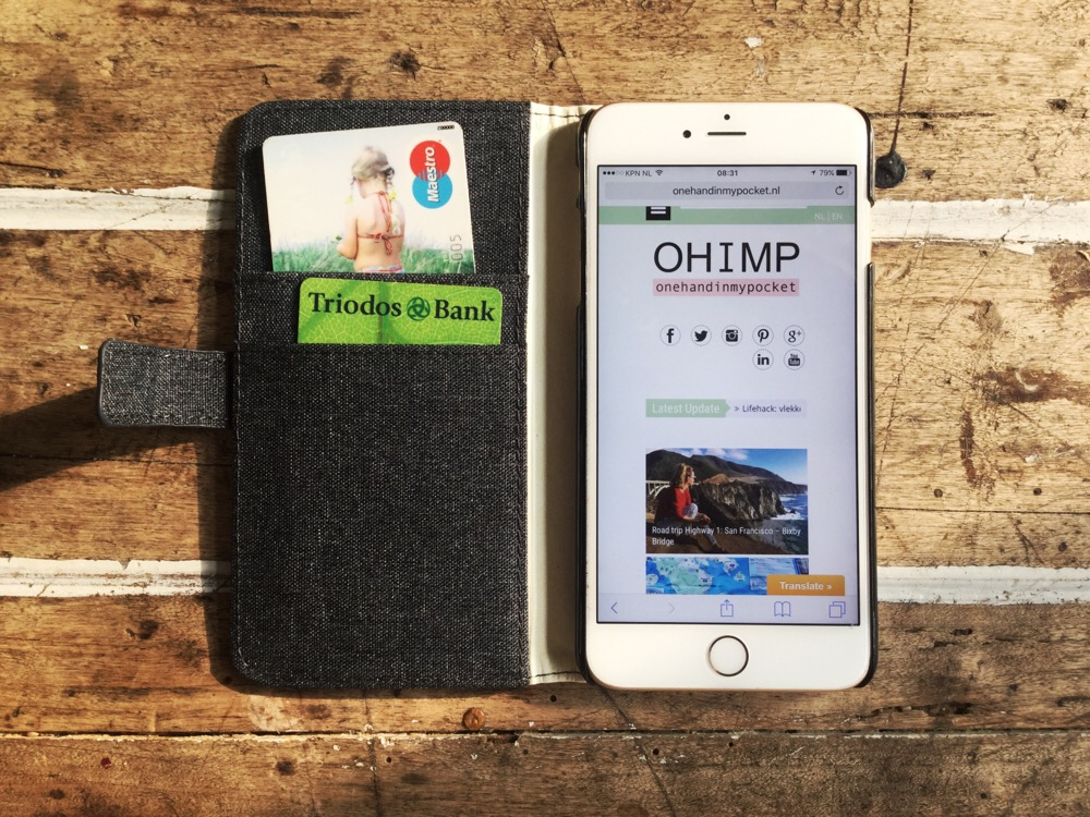 telefoonhoesje voor pasjes