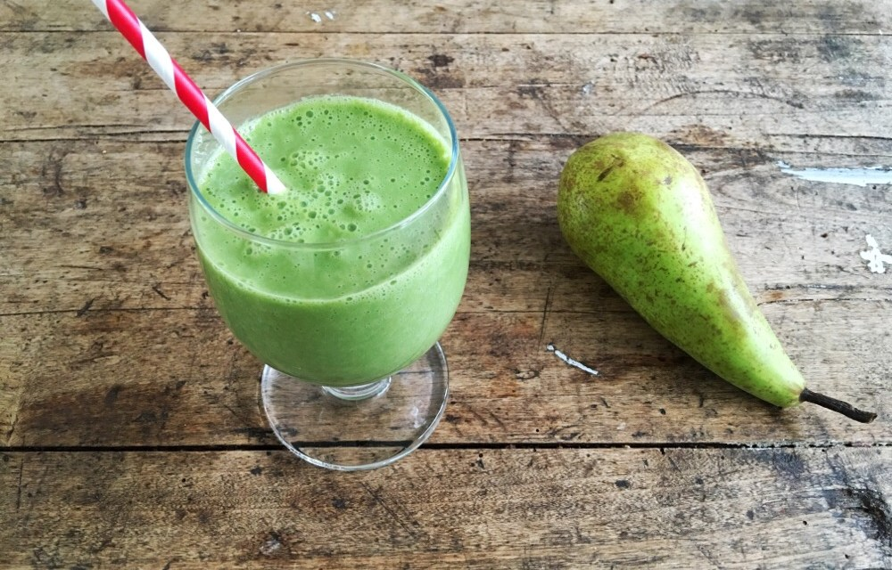 TOP recept: smoothie met peer + spinazie