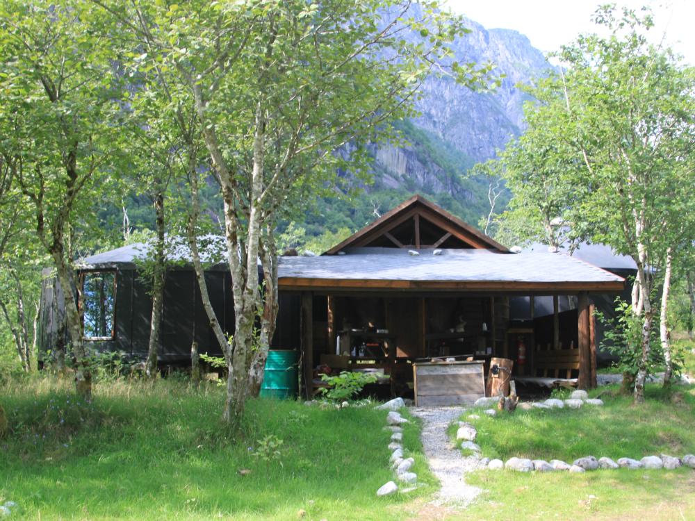 Slapen in een yurt in Noorwegen