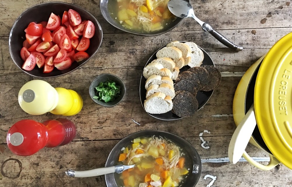 Recept: makkelijke, gezonde kippenbouillon