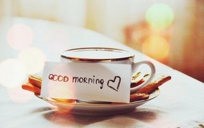 uitgerust wakker worden met koffie
