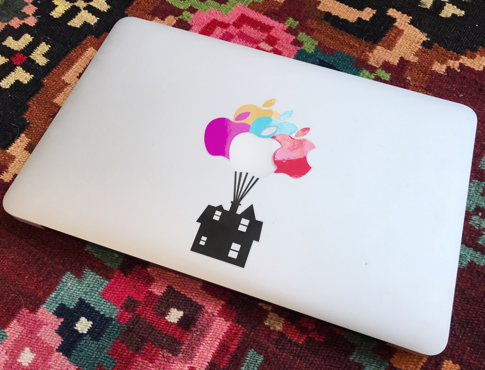MacBook sticker UP