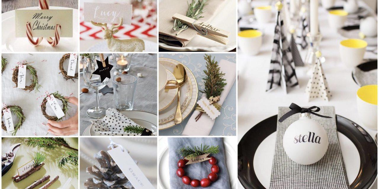 Kerstinspiratie: naambordjes voor tafelschikking
