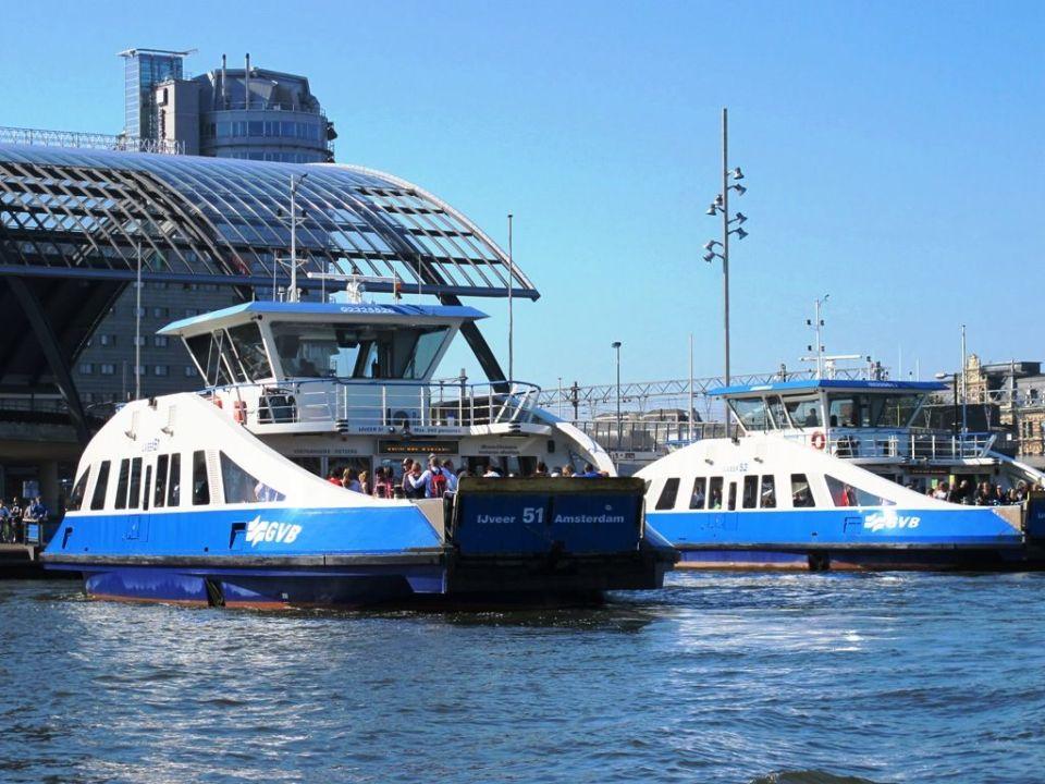public transport in Amsterdam - ferry