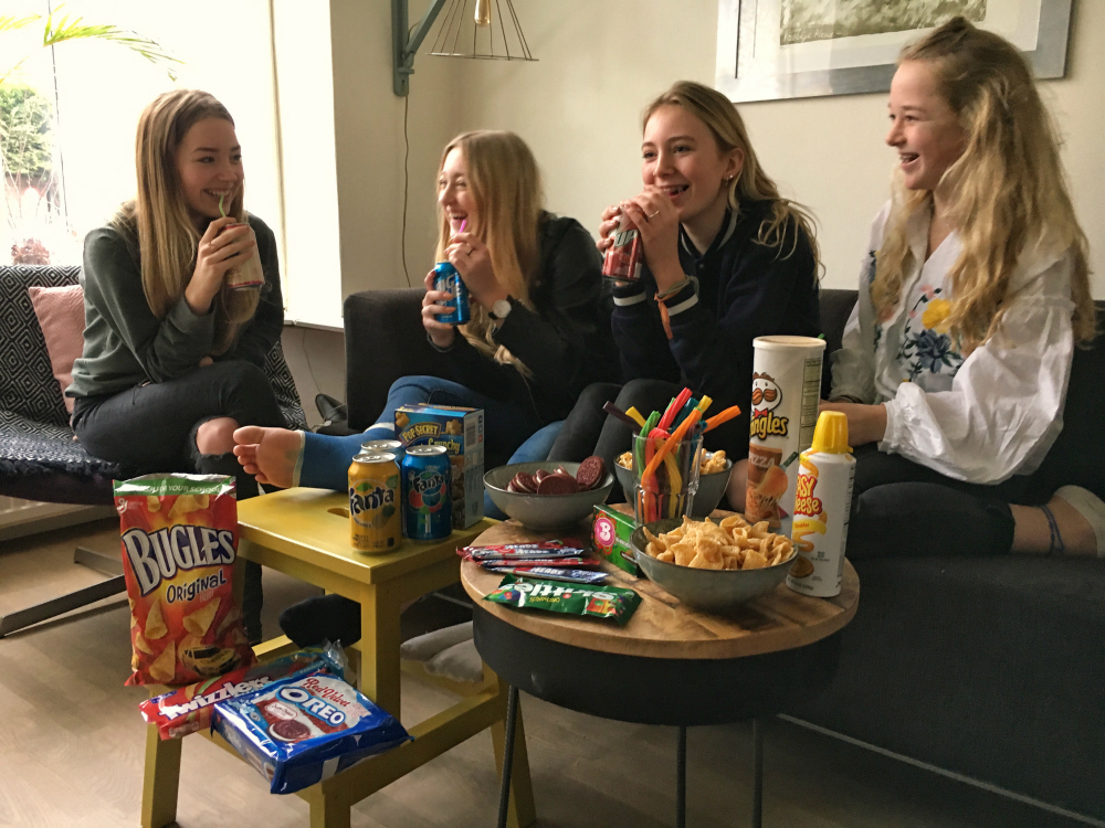 Amerikaanse snacks en film