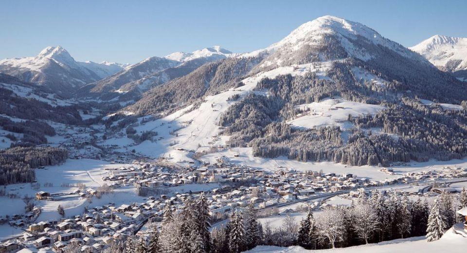 Uitzicht Kirchberg winter