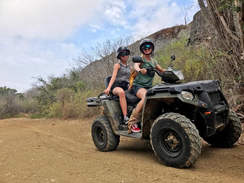 quad rijden op curacao