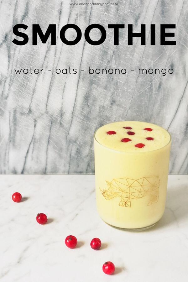 Vullende smoothie met havermout, banaan en mango