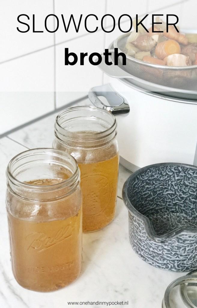 bouillon van botten uit de slowcooker