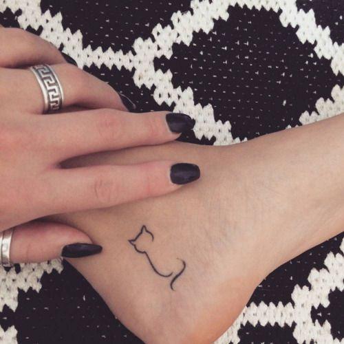 silhouet kat tattoo