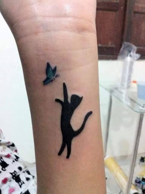 tattoo van een kat
