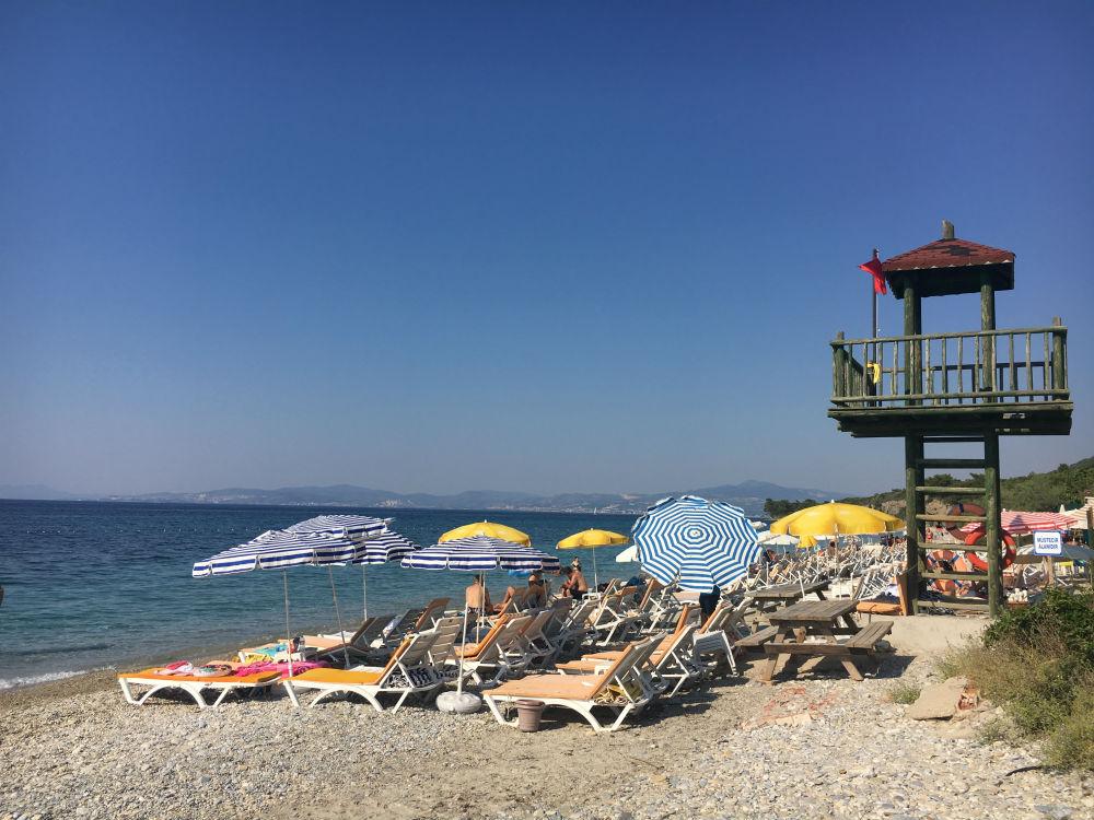 Strand natuurpark Dilek Turkije