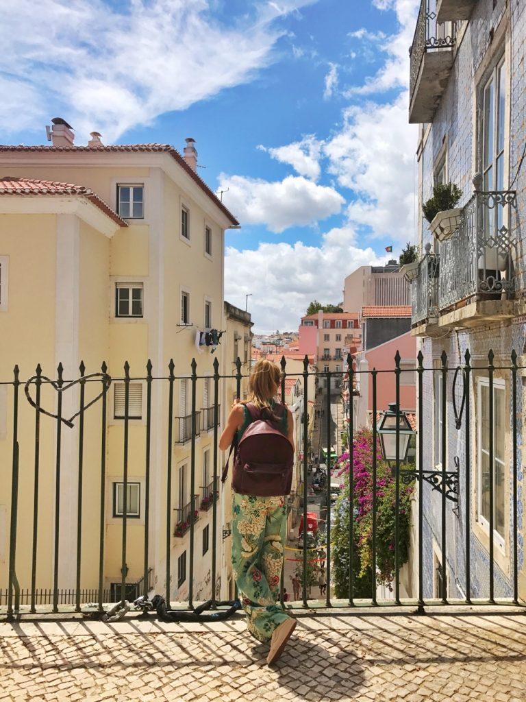 straatjes in Lissabon