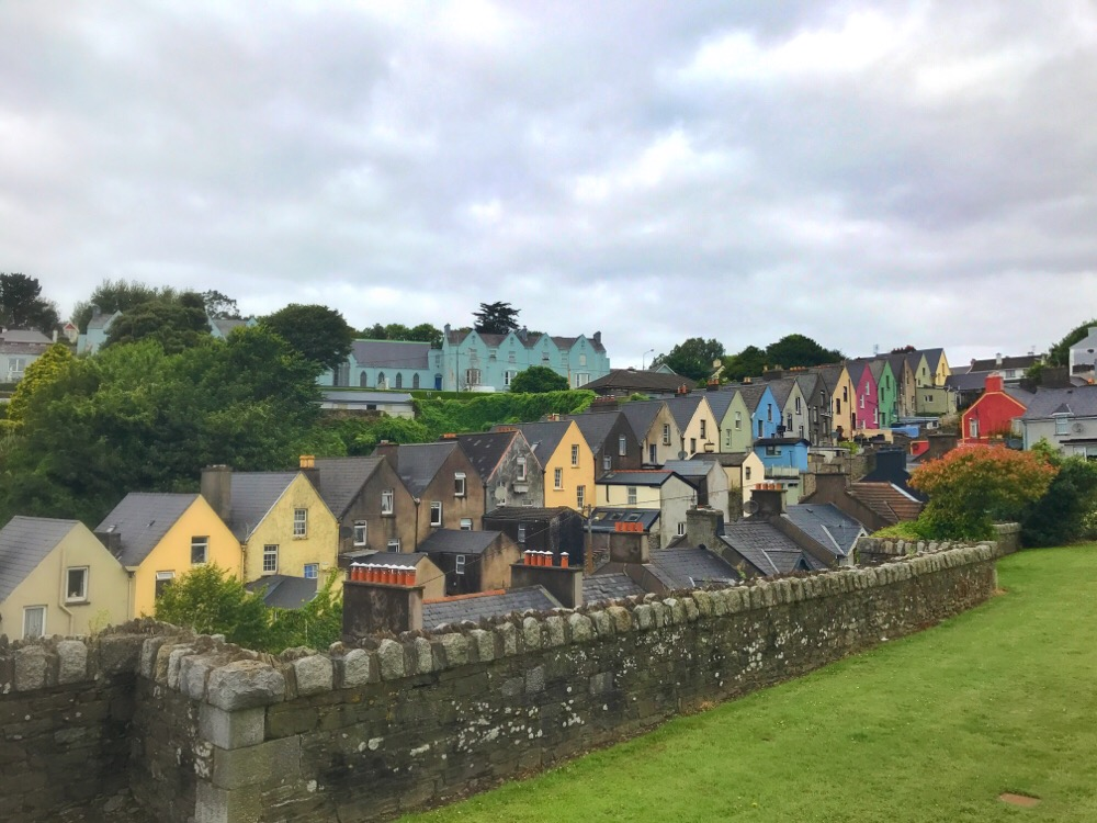 Cobh colored houses