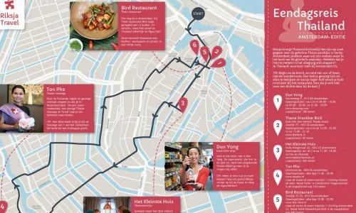Thaise wandelroute door Amsterdam