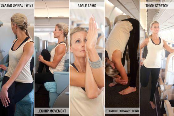 yoga in vliegtuig