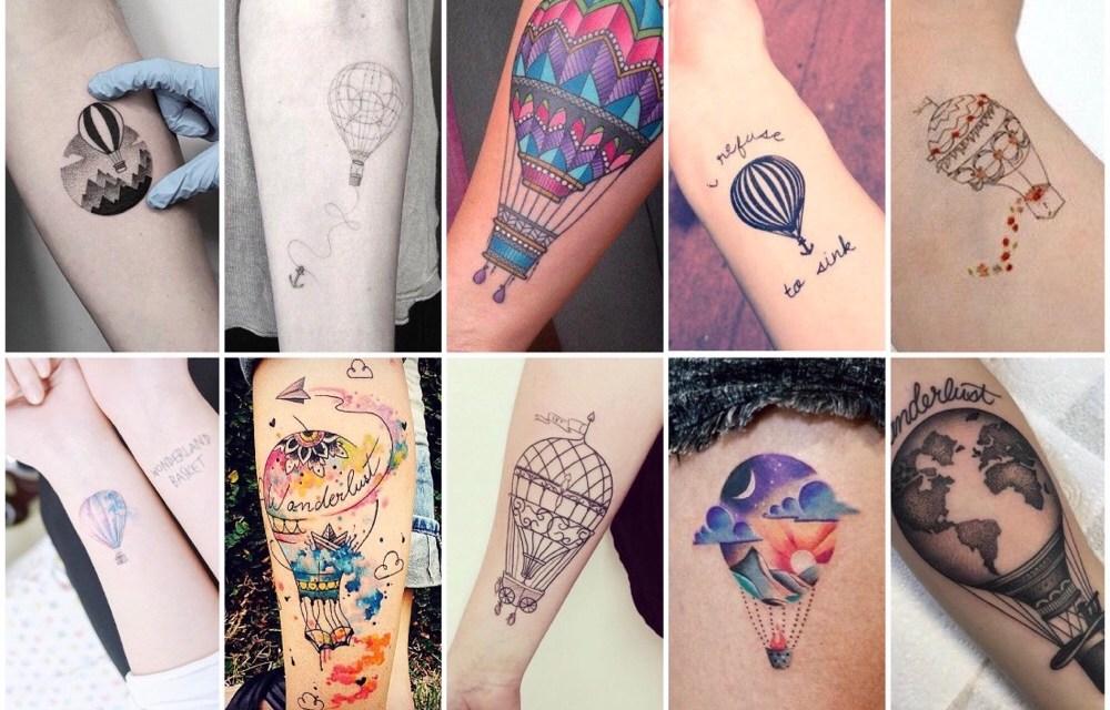 10x inspiratie voor een luchtballon tattoo