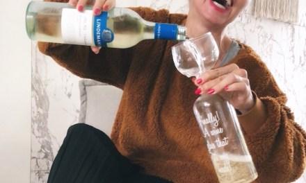Winnen: 'bigmouth' wijnfles glas