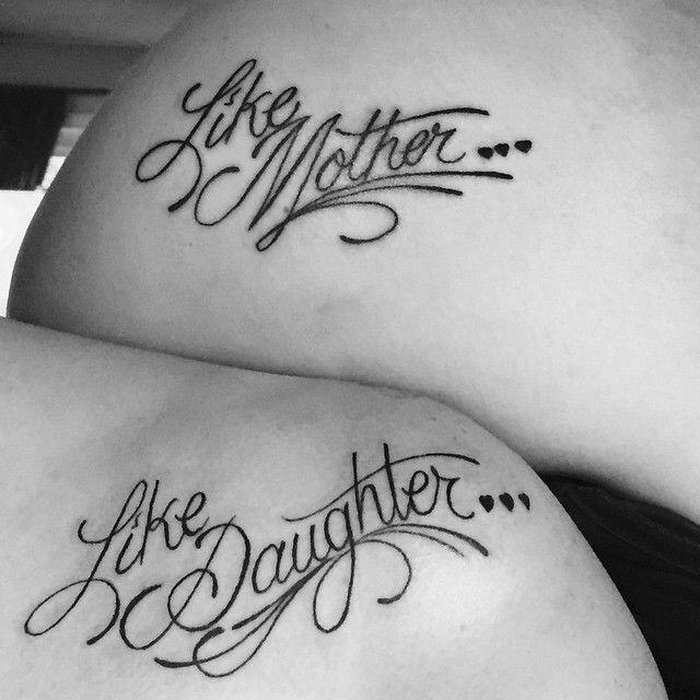 moeder dochter tekst tattoos