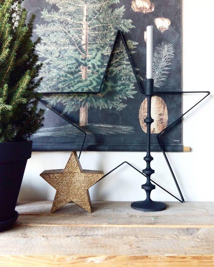 kerststerren in kersthoekje