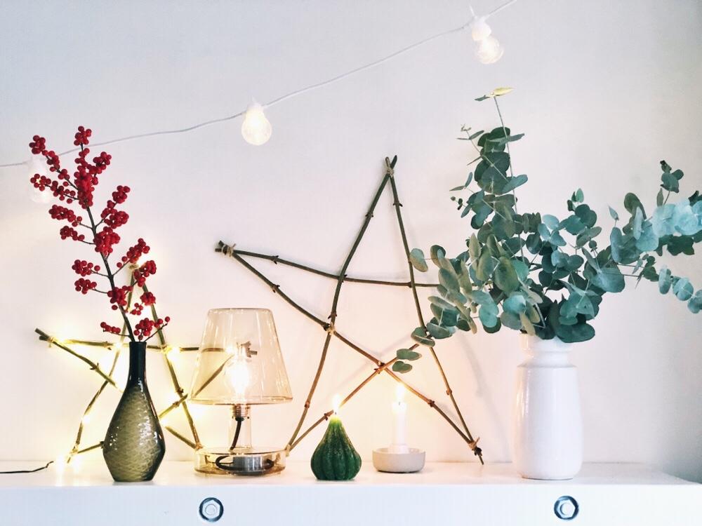 Zelf maken: een kerstster van houten takken
